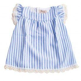 001 vestido azul listrado