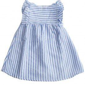 002 vestido azul listrado