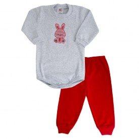 1174 conjunto vermelho coelho