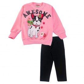 2067 conjunto rosa dog