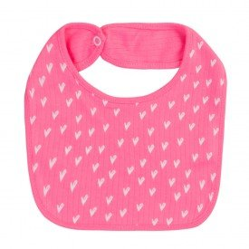 30103 babador rosa coracao