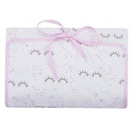 2229 1trocador portatil e porta fraldas bebe menina coracoezinhos rosa
