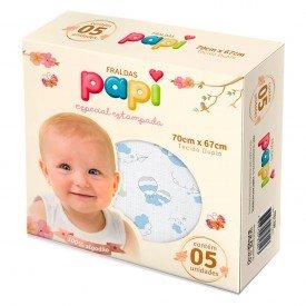 0524 kit 5 fraldas bebe menino nuvens azul dudalui