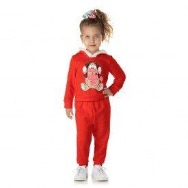 1316 conjunto moletom kids menina doguinho vermelho dudalui1