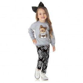 1317 conjunto kids menina sweet bear mescla dudalui