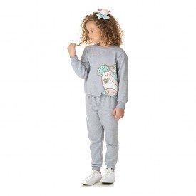 1328 conjunto moletom infantil menina unicornio mescla dudalui