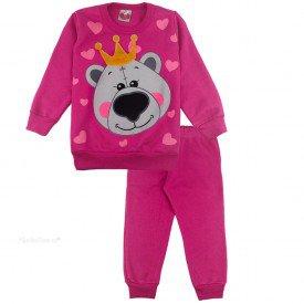 2099 conjunto moletom kids menina coracoes pink dudalui