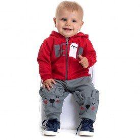 4878 conjunto moletom bebe menino bear vermelho
