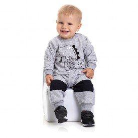 4870 conjunto moletom bebe menino raposinha mescla dudalui