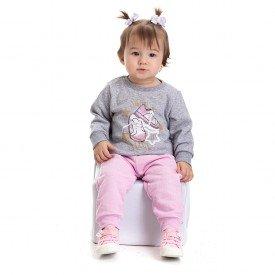 4813 conjunto moletom bebe menina stars mescla dudalui