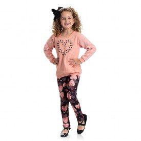 4838 conjunto infantil menina coracoes coral dudalui