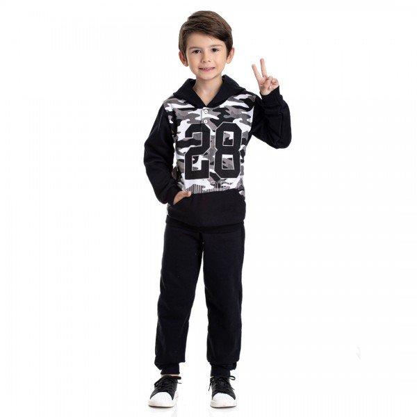 4906 conjunto moletom infantil menino camuflado preto dudalui