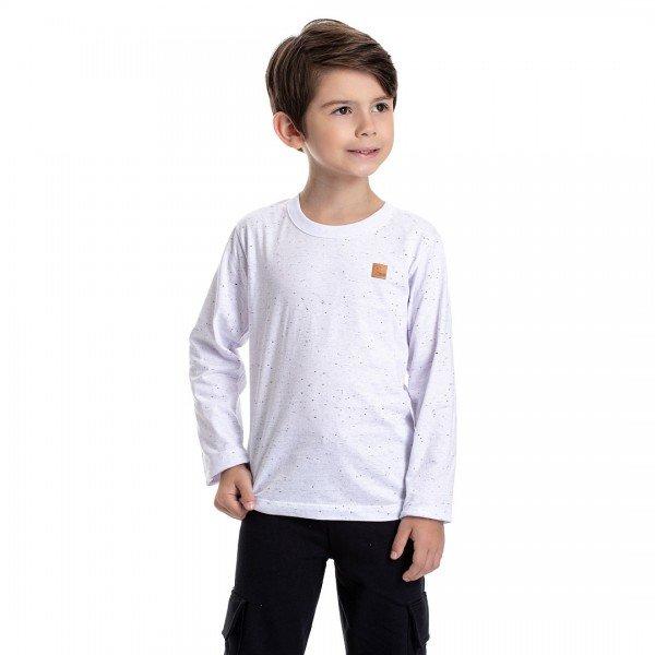 4921 camiseta infantil menino basic branca dudalui