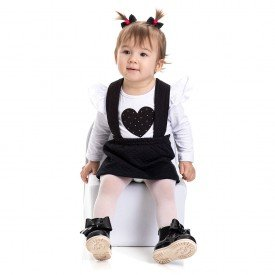 4812 conjunto jardineira bebe menina coracao branco dudalui