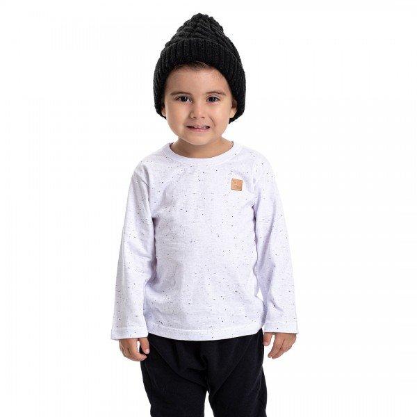 4905 camiseta kids menino basic branca dudalui