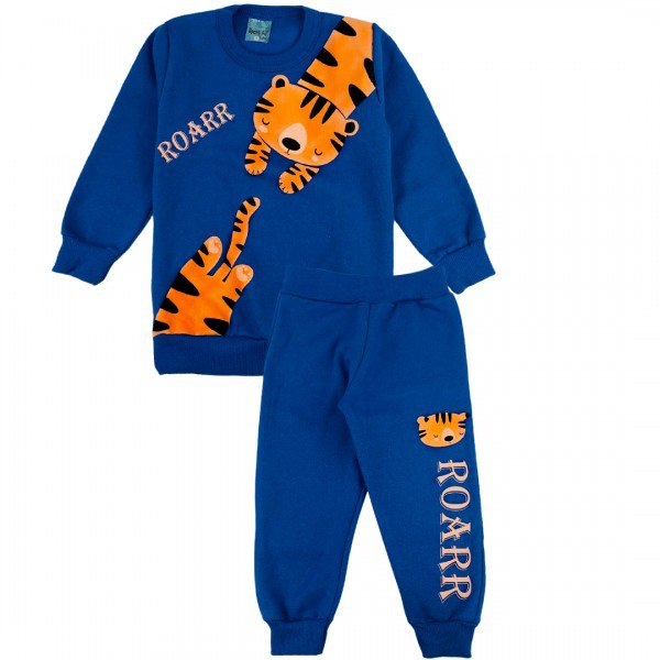 2137 conjunto moletom kids menino tiger royal dudalui