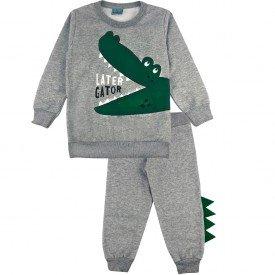 2140 conjunto moletom kids menino alligator mescla dudalui